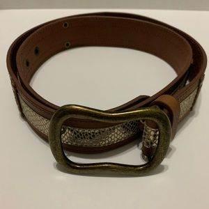 Chico's metallic leather belt size L